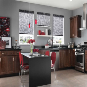 Grey Kitchen Drapes