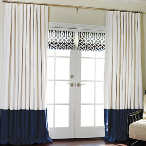 Blue White Drapes