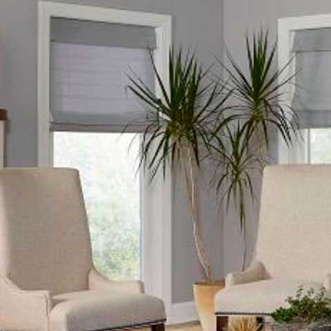 grey cellular blinds