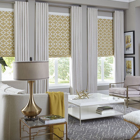 grey living room drapes
